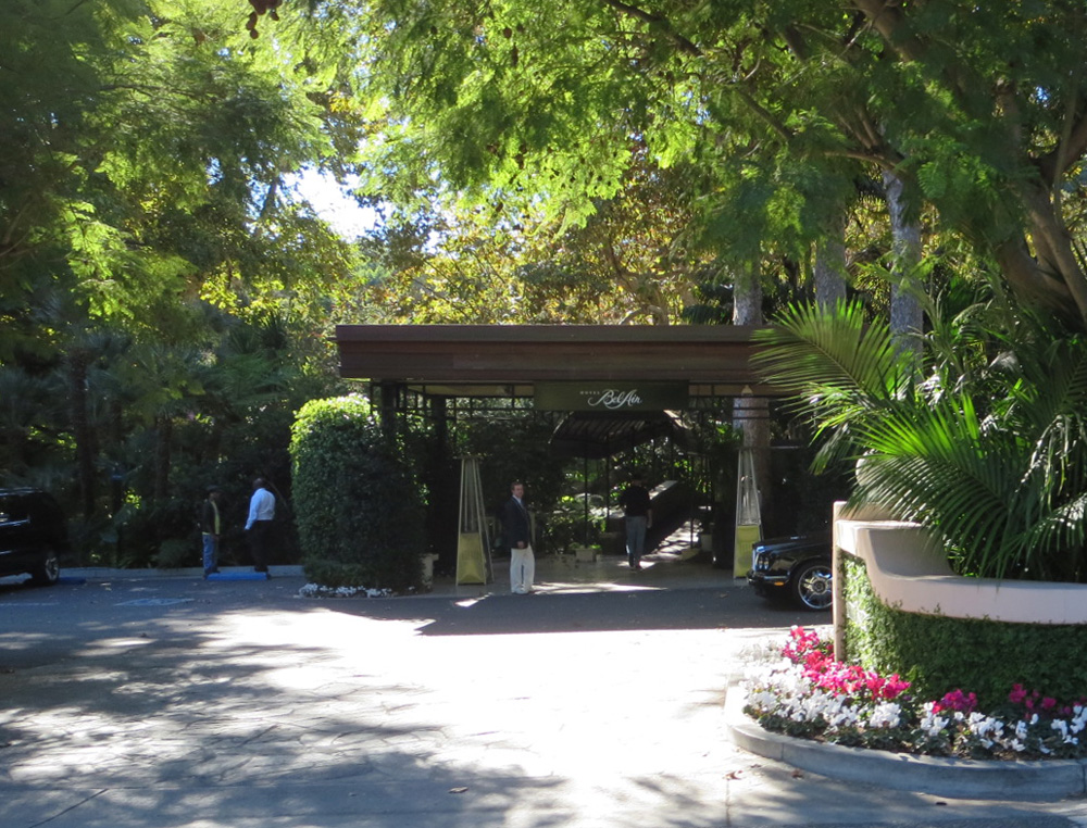 Bel Air Hotel Entry