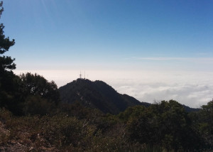 The feeling that you're above the clouds in the San Gabriels